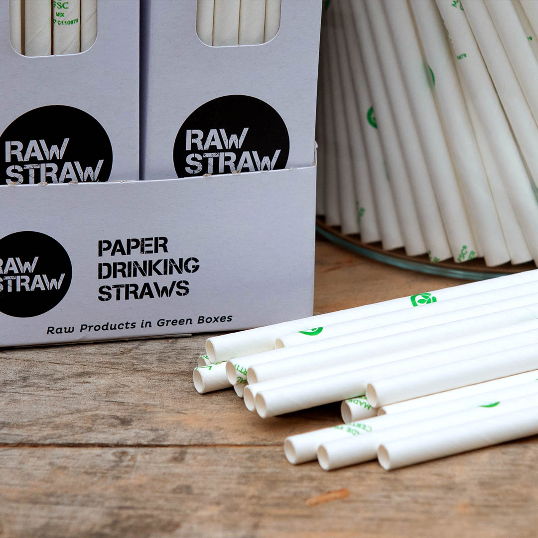 Raw Straw Paper Drinking Straws