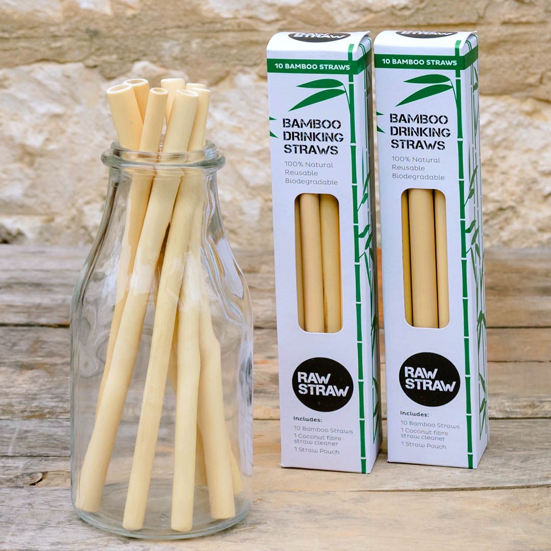 Raw Straw BAMBOO Straws