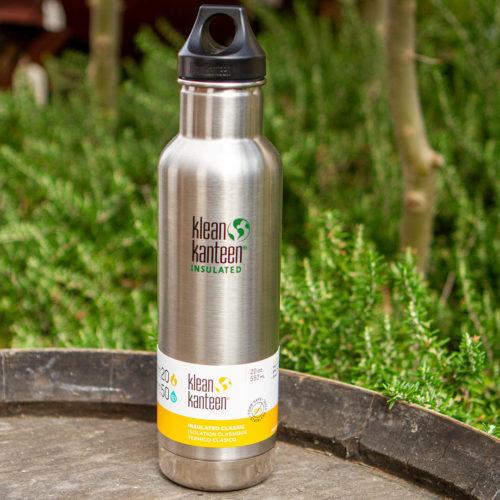 Kleen Kanteen 592ml Vacuum Insulated Water Bottle SILVER