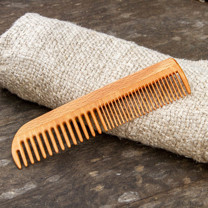 Wooden Comb - Beautiful men's comb, 18cm long, smooth in hand with wider and finer teeth.